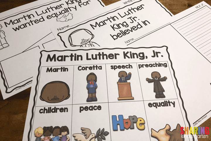 MLK Writing Prompts and Word Wall