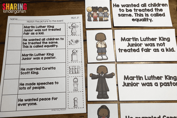 MLK Facts for little learners