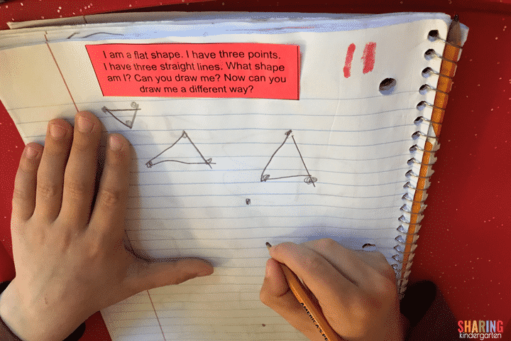 Math journals for shapes