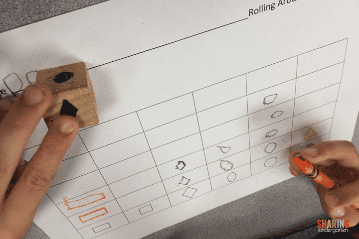 Roll and graph for shapes