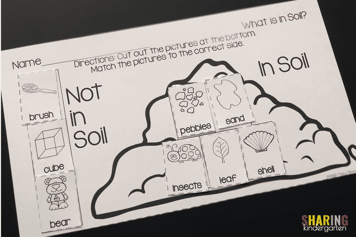 Soil Sorting Printable