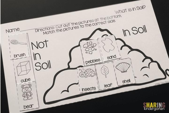 Soil Sorting Printable