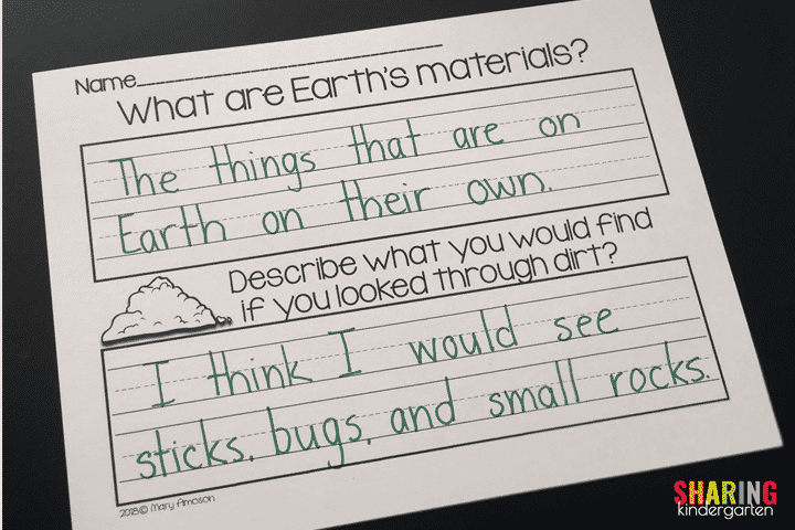 Writing About Earth's Materials