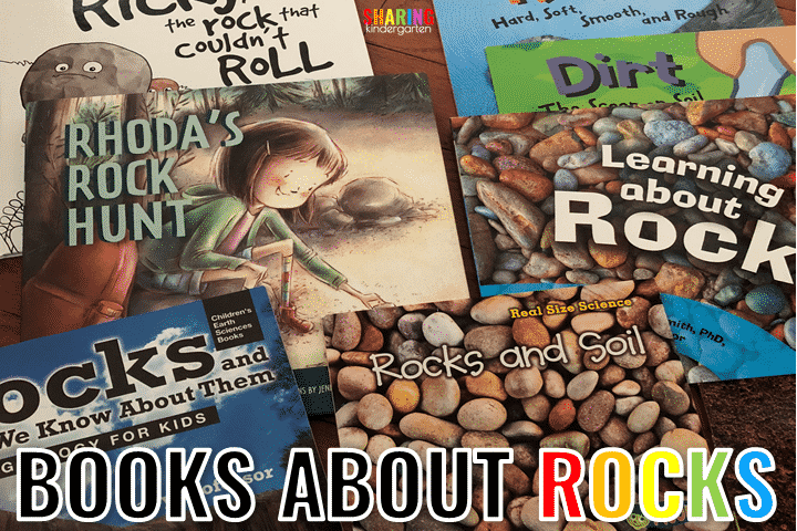 Books About Rocks and soil and All About Earth's Materials with this rock unit for Kindergarten.