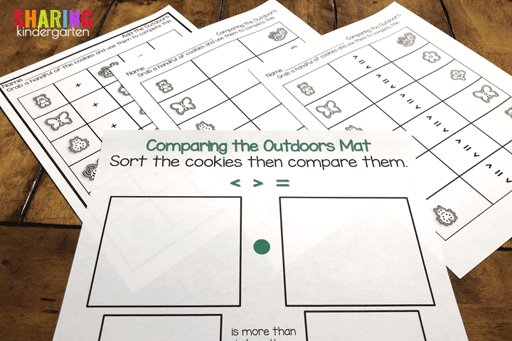 Teddy Graham Outdoor Discovery Freebie File- Comparing Numbers