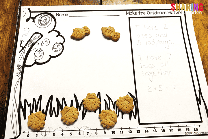 Teddy Graham Outdoor Discovery Freebie File- Math Pictures