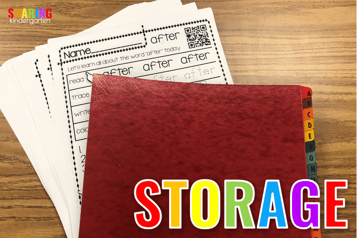 How to store for quick use!