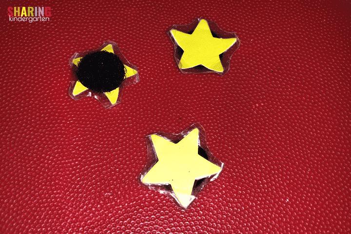 star chart using velcro