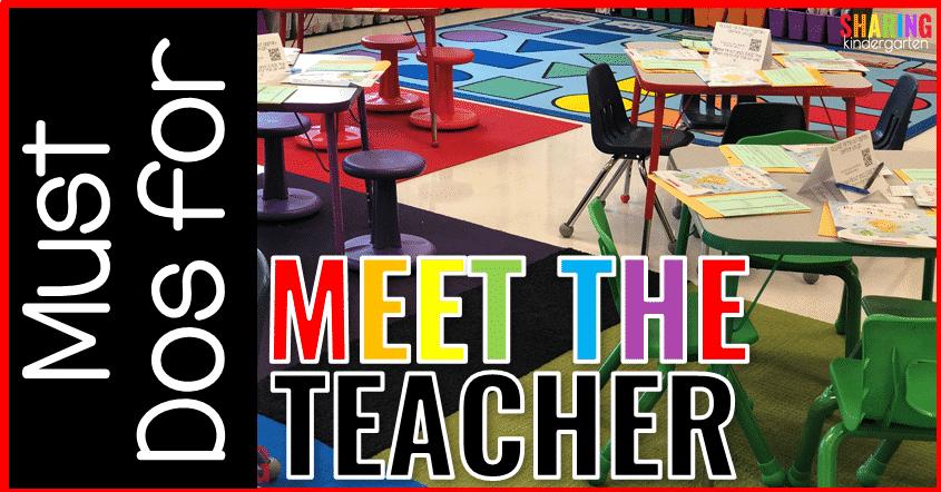 Must Dos for Meet the Teacher