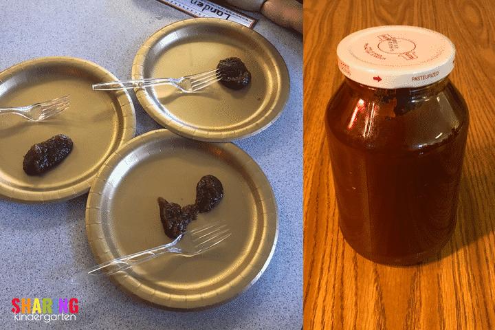 Tasting the mystery substance... apple FUN!