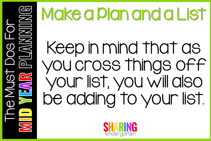 Must Do for Mid Year Planning #1- Make a Plan and a List