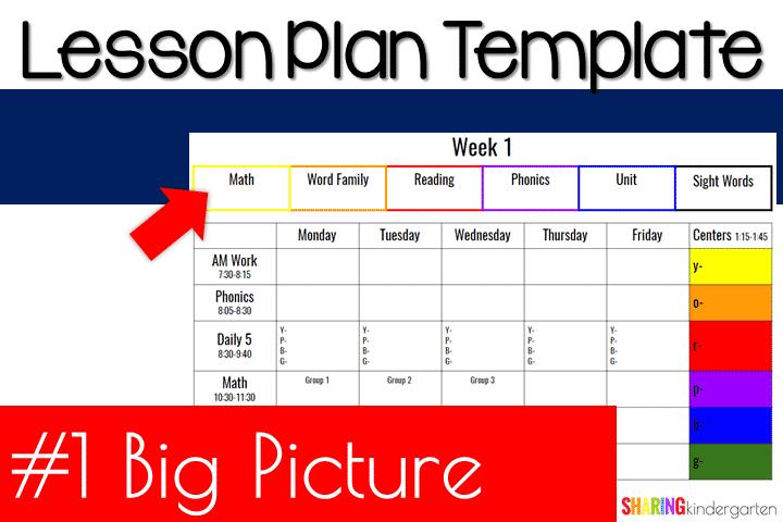 Lesson Planner Template from sharingkindergarten.com