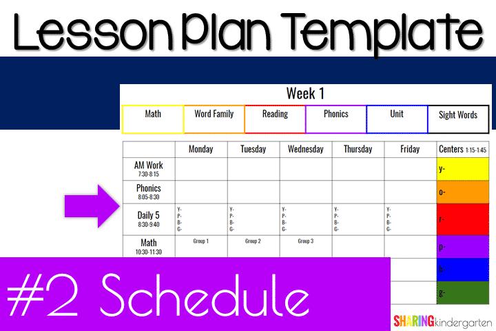 Lesson Plan Calendar Template from sharingkindergarten.com