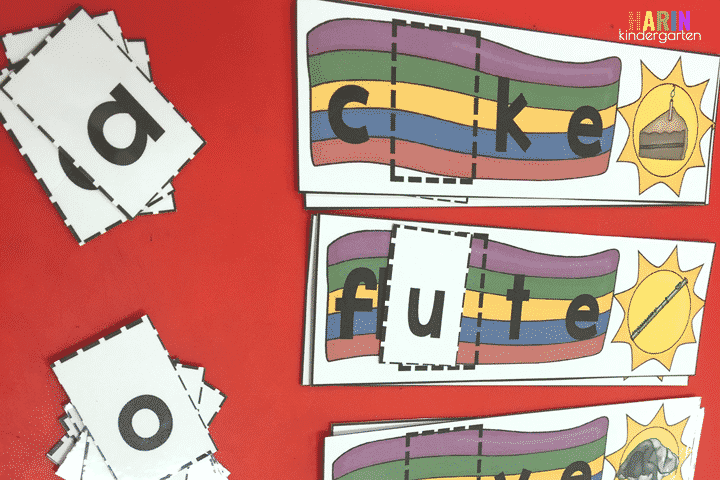 Building long vowels with this beach theme.