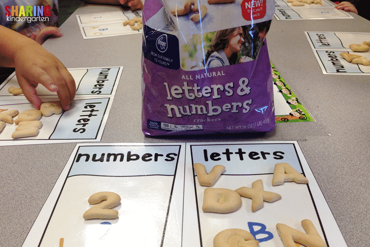 Engagement Moments in Math: Sorting letters and numbers