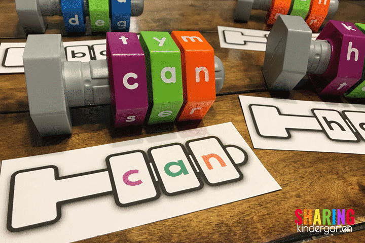 Blending CVC words with this FUN learning activity.