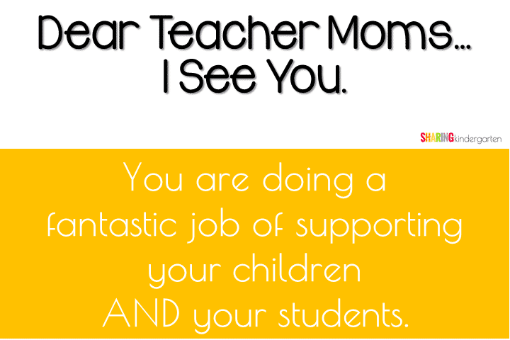 You are doing a fantastic job of supporting your children and your students and I see you.