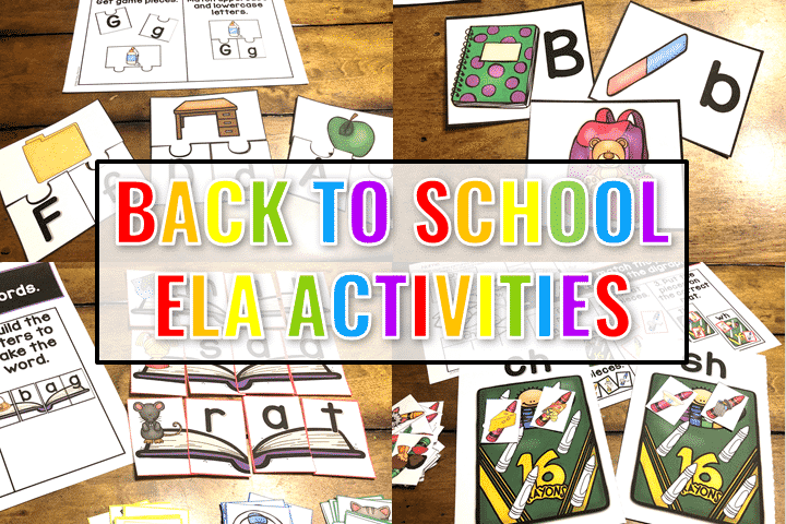 Check out these engaging back to school ela activities for little learners.