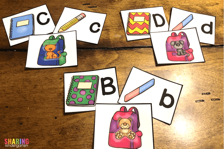 Letters and Sound Matching for Back to School