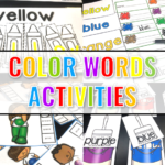 Hands on Color Words Activities