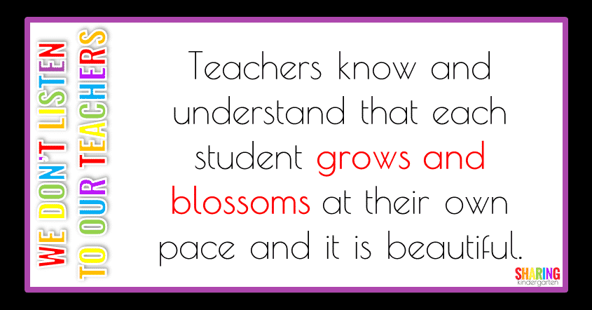 Teachers know that students grow and blossom at their own time.