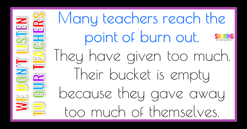 Many teachers reach the point of burnout.