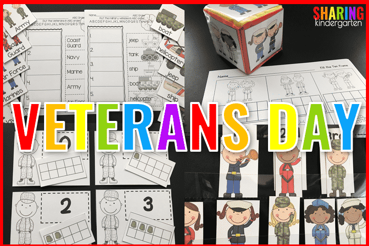 TONS of activities, printables, and integration activities for Veterans Day.