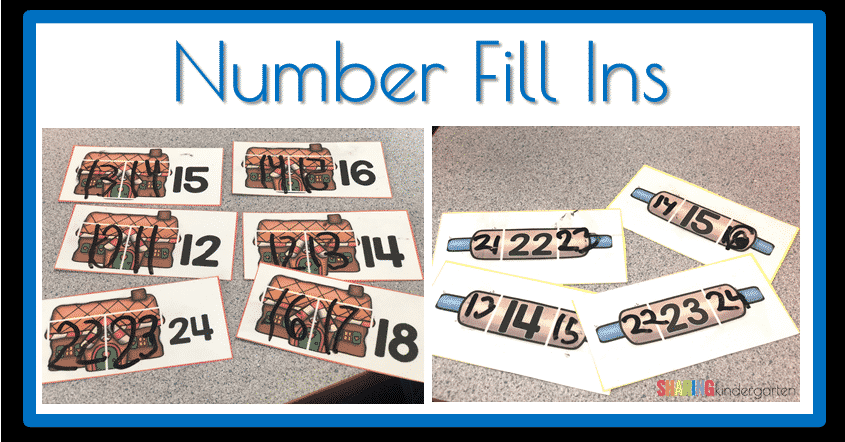 Number Fill Ins for Math