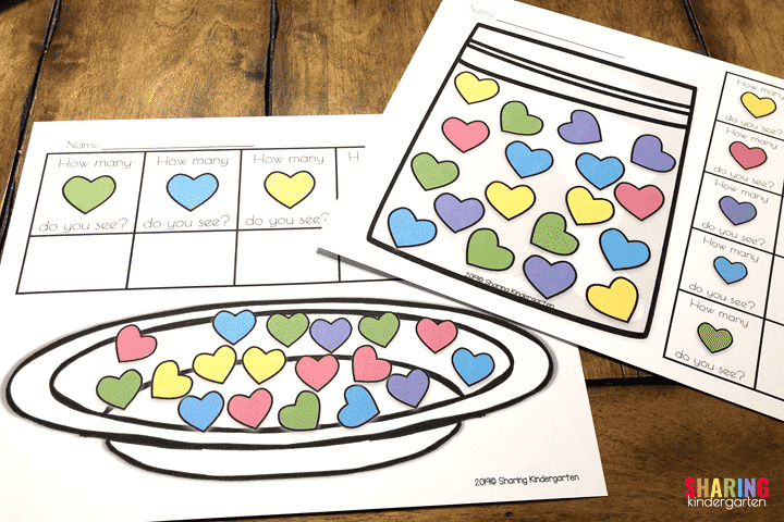 Heart Printables for use without candy