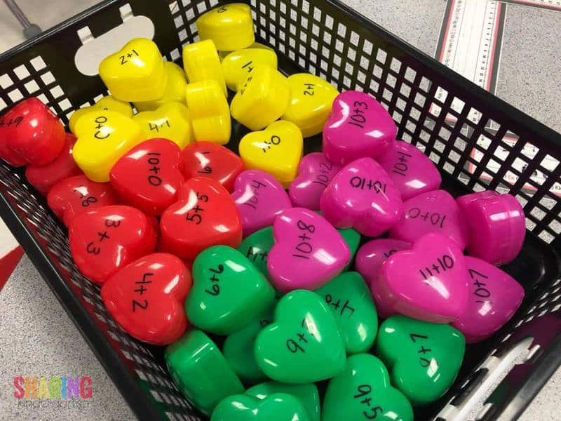 Check out these CUTE hearts that are perfect for math!