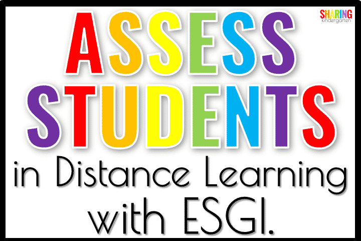 Assess students in Distance Learning with ESGI