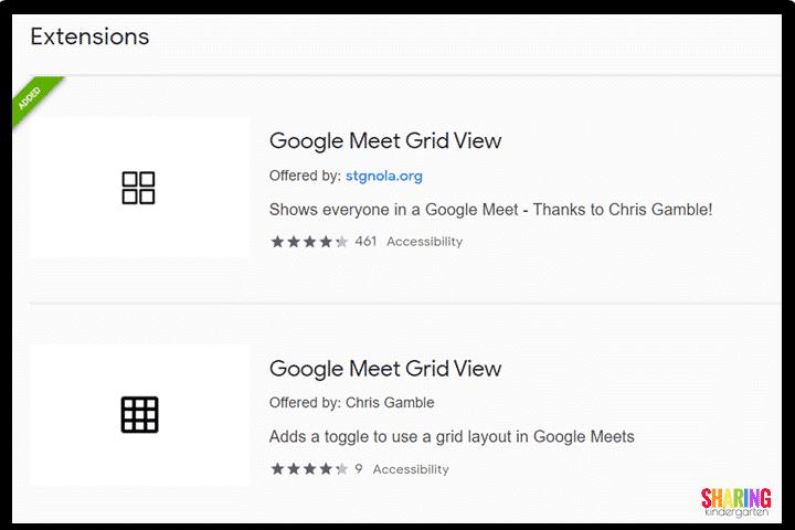 Distance learning tip: Google Meet Grid