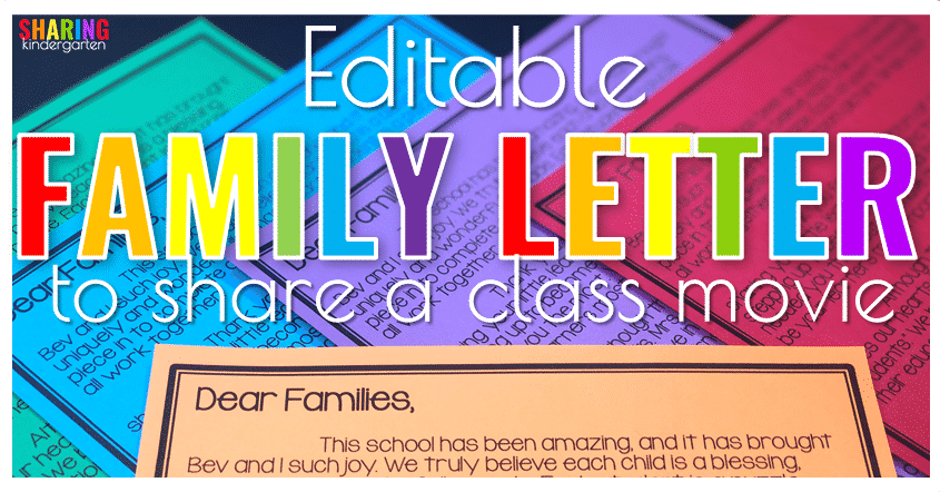Editable Family Letter to Share with a class movie
