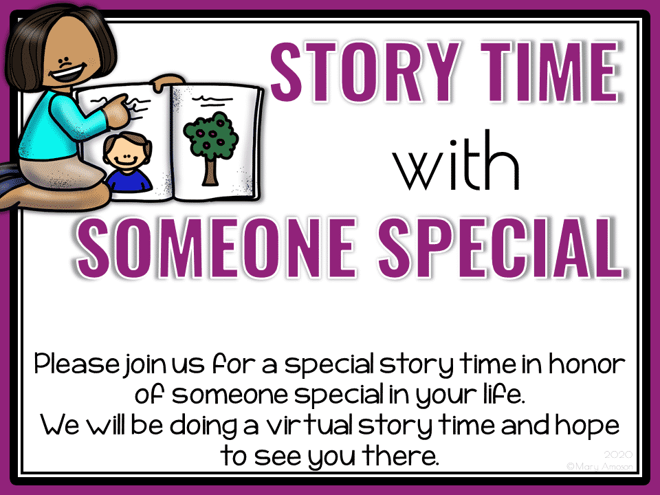 Storytime with Someone Special