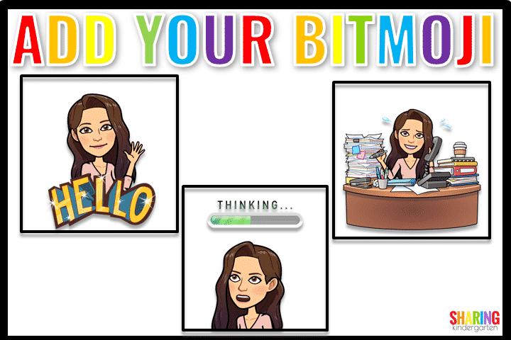 Add your bitmoji to an Interactive Classroom.