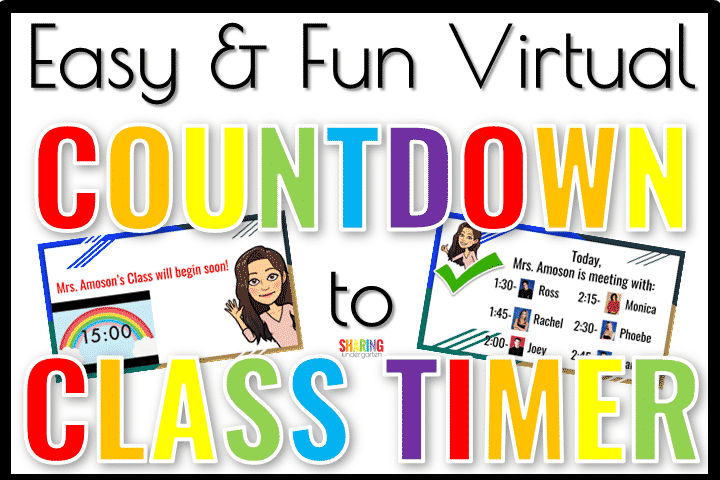 Create an easy & fun virtual countdown to class timer.