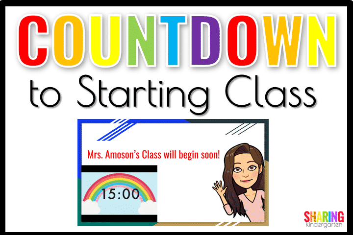 Countdown to starting class with this FUN idea.