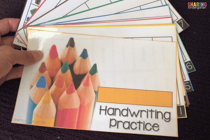 Teaching Virtual in Kindergarten with handwriting help.