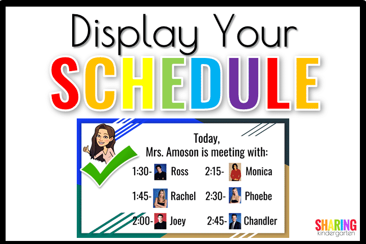 You can display your schedule as well.