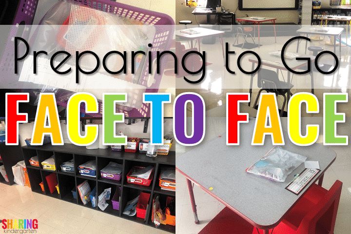 Preparing to go face to face learning in Kindergarten