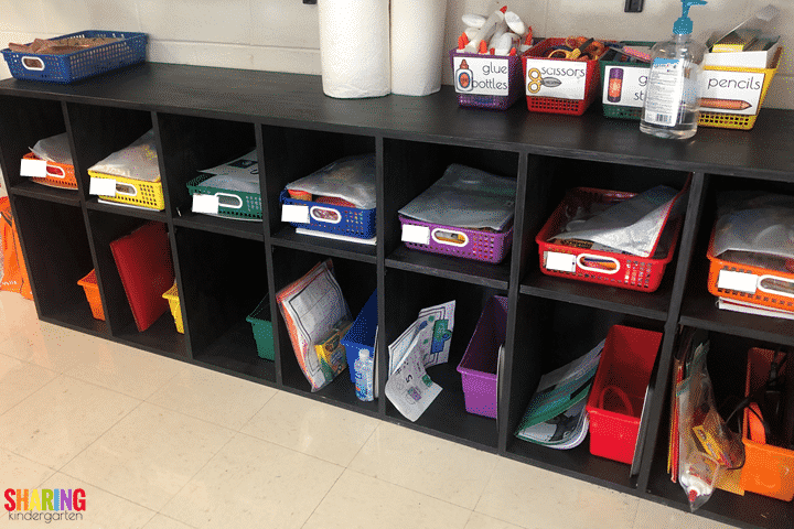 As we prepare for face to face learning, we got our cubbies ready.