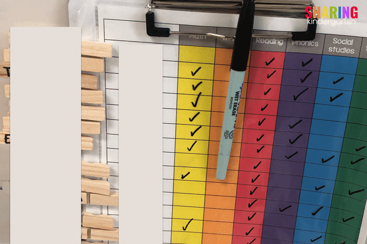 Laminate the sheet and use a wet marker to check off student progress.