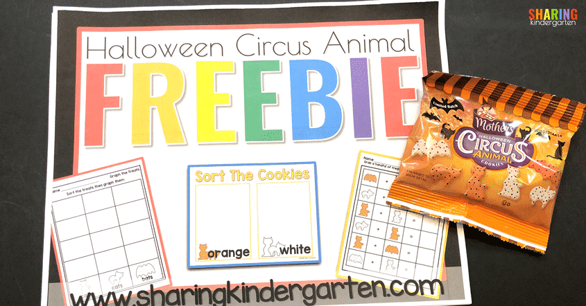 Check out this Halloween Circus Animal Freebie pack.