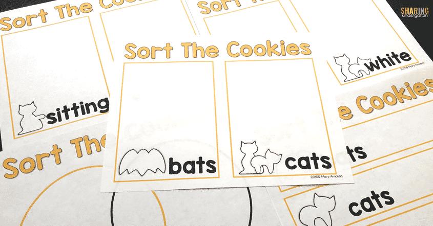 Sort the cookies Halloween Circus Animal Cookies