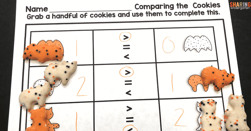Comparing Numbers activities for kinders