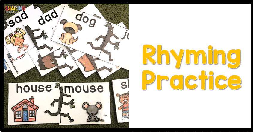 Rhyming practice fun using the book  Stick Man.