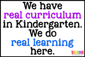 Moving to Kindergarten tips... we have real curriculum.