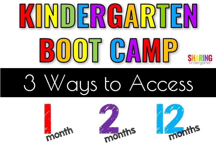 Ways to Access Kindergarten Boot Camp