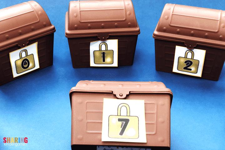 Number sense treasure chests