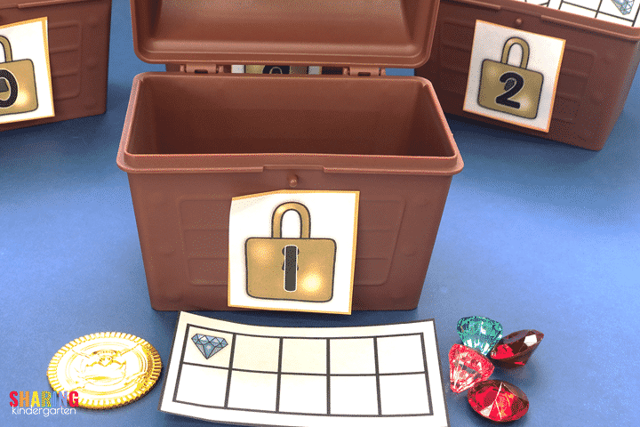 Use ten frames, coins, or gems for this fun number sense game.